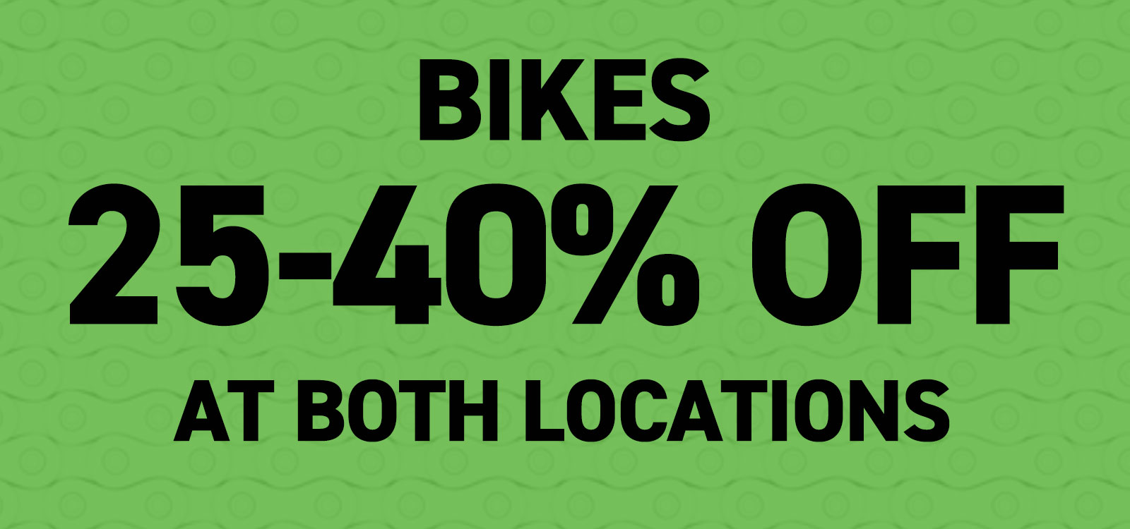 Winter Bike Sale at Alpha Bicycle Company